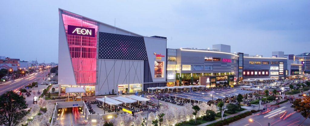 Trung tâm thương mại mua sắm Aeon Mall Bình Tân sầm uất chỉ cách Aio Cityvàitrămmét