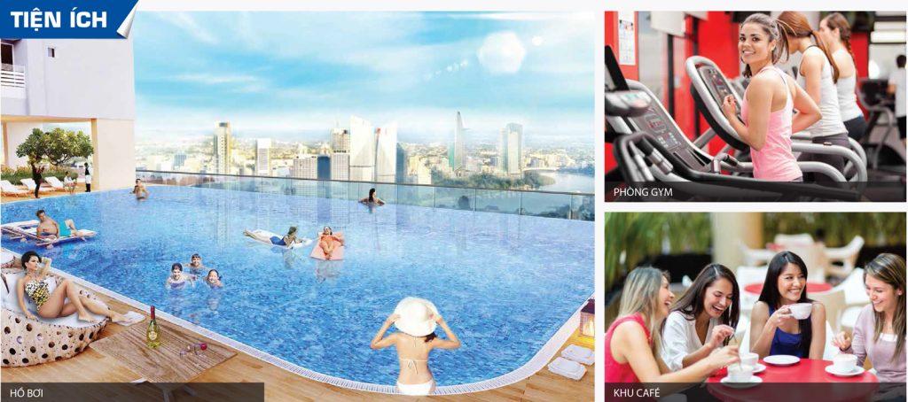 Tiện ích với hồ bơi đạt chuẩn Olympic nằm ngay trong khu căn hộ Aio City