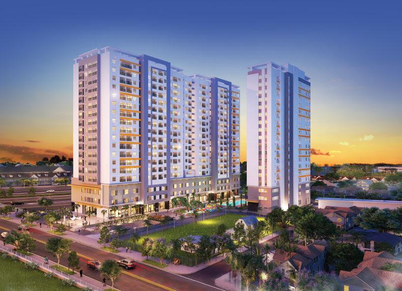 Khu căn hộ tiện ích Aio City nằm ngay giữa lòng trung tâm quận Bình Tân