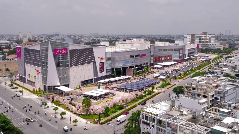 Aio City nằm trên mặt tiền đường Tên Lửa và liền kề với AEON Mall Bình Tân