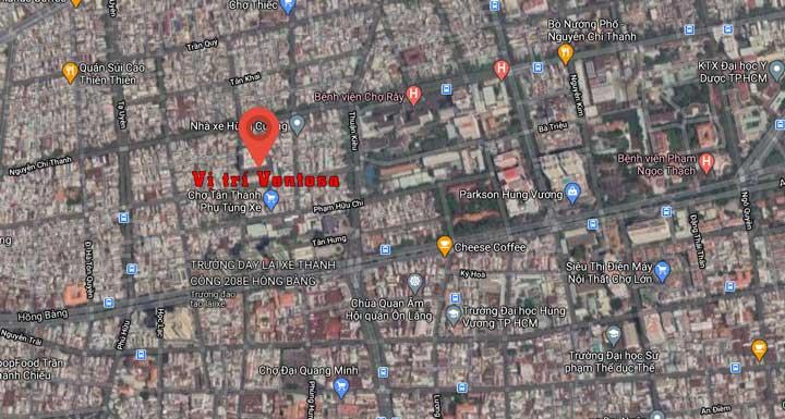 Vị trí dự án căn hộ 66 Tân Thành