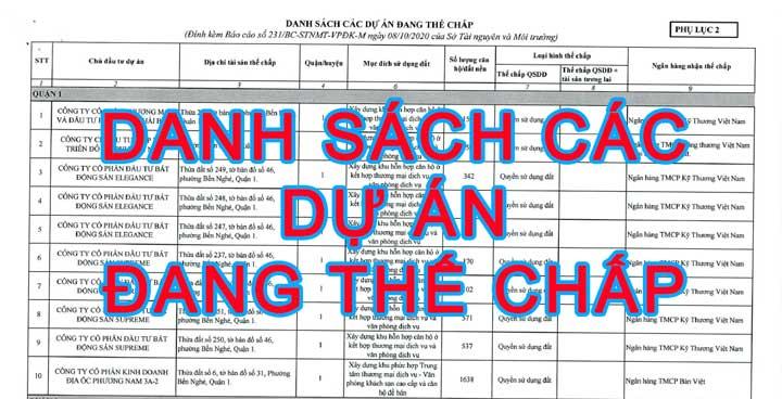 cac du an the chap ngan hang